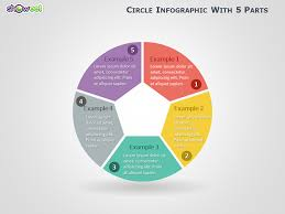 Slide Circle Circle Infographic With 5 Parts For Powerpoint