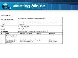 munites of meeting facilitation and meeting skills