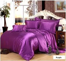 pink purple bedding set silk satin super king size queen full quilt duvet cover double ed violet bed sheet bedspreads 5pcs