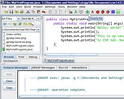 building java programs lab java basics jgrasp compile