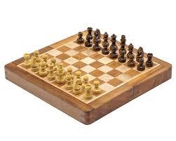 deluxe hardwood folding travel 7 5 inch chess set magnetic
