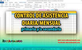 formato de asistencias control de asistencia diaria mensual en word excel inicial