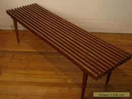 vintage 1950s slat bench cofee table