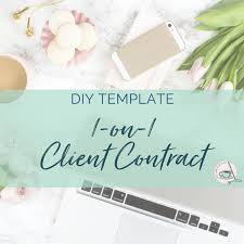Diy Client Agreement (Contract) Template | Vander Wielen