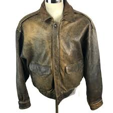 details about wilson er leather jacket motorcycle adventure bound medium distressed brown