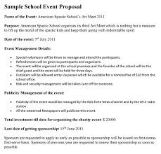 Party Proposal Template Stunning School Event Proposal Template Regarding Proposal Letter For School
