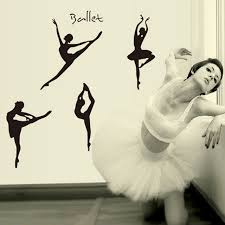 Small Picture Aliexpresscom Buy DIY Wall Sticker Wall Decals Lovely Ballet