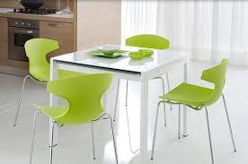 office kitchen tables. Exellent Kitchen View In Gallery Bright Green Kitchen Chairs Around A White Table Throughout Office Kitchen Tables