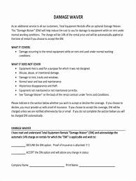 waver form template waiver template word