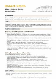Insurance Representative Resumes Billing Customer Service Representative Resume Samples Qwikresume