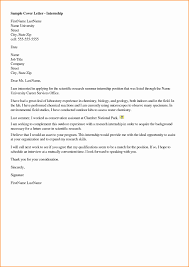 Sample Cover Letter Chemistry Job Tomyumtumweb Com
