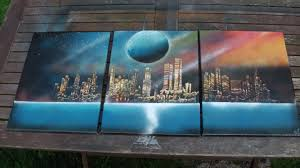 Painting Canvas How To Spray Paint Art 3 Canvas Painting Youtube