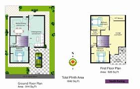 house plan for 1000 sq ft south facing best of 40 x 40 duplex house plans