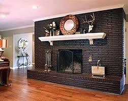 modern rustic painted brick fireplaces ideas 80