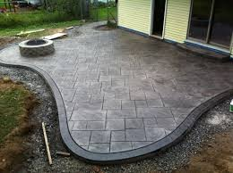stamped concrete patio with fireplace. Stamped Concrete Patio With Fire Pit - Ideas Fireplace G