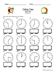 Telling Time Worksheets On The Worksheets for all | Download and ...