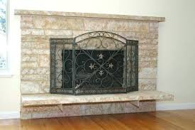 how to redo a stone fireplace red stone fireplace redo faux stone fireplace