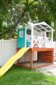 how to build an outdoor playhouse for kids a houseful of handmade kids outdoor playhouse