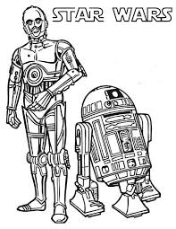 Small Picture C3PO and R2D2 the Star Wars Droids Coloring Page Download