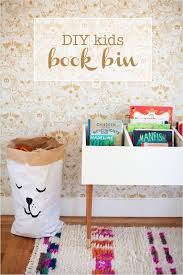 diy book bin for little kids that makes it easy to browse through books