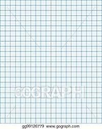 Vector Illustration Blue Graph Paper Coordinate Paper Grid Paper
