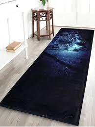 fleece area rug slip resistant snow wolf c fleece area rug midnight inch inch kenya fleece area rug