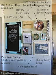 Chalkboard In Kitchen Salt And Pepper Moms Diy Family Command Center
