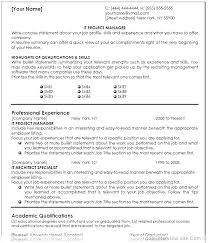 Project Manager Resume Samples Project Management Resume Examples