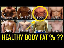What Is A Healthy Body Fat Percentage For Men Charts