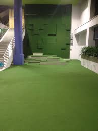 wall art with artificial grass
