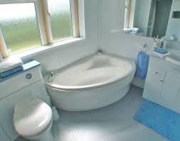 ... Corner Bathtub Side To Bathtubs Idea, Garden Tub Dimensions Standard Tub  Height All White Bathroom With Blue Accessories White ...