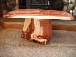 red cedar coffee table zoom awesome tree trunk coffee table