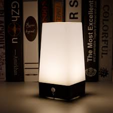 Led Emergency Night Light Chargeable Battery Bedside Square Creative