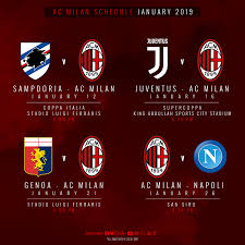 AC Milan - Our Coppa Italia opener, the Italian Supercup...