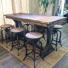 best 25 pub tables ideas on glass top dining table intended for rustic wood bar table plan