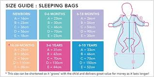 Baby Sleeping Bag Temperature Chart Choosing The Right Sleeping Bag For Your Baby