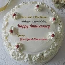 Wedding Anniversary Cake With Name Edit Birthdaycakeformomgq