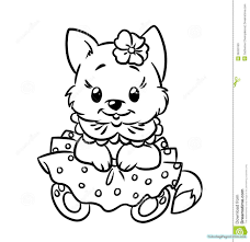simplified cuteitten coloring pages timely puppy and funycoloring lovely nice book colouring free printable kitten