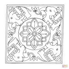 Small Picture Elephant Mandala coloring page Free Printable Coloring Pages