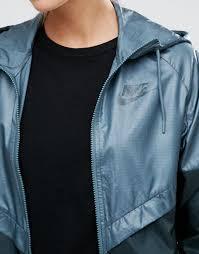 nike full zip windbreaker jacket in green ta seaweed seaweed women