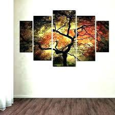 autumn tree set of 3 framed wall art prints
