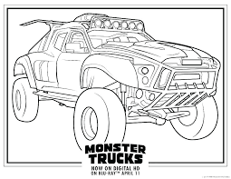 Monster Truck Coloring Page Grave Digger Monster Jam Truck Coloring