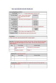Use Case Templates Free Resume
