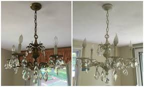 one of the things i wanted to keep in our new home was this chandelier but the brass needed an update
