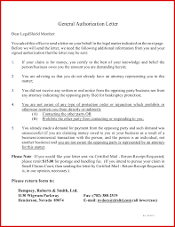 Best Of Authorization Letter For Legal Representation Mailing Format