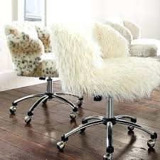 white faux fur office chair null faux fur desk chair uk