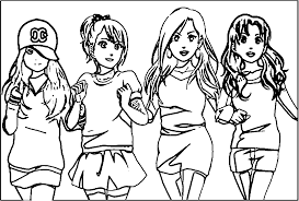 Chibi Anime Bffs Coloring Pages Wwwtopsimagescom