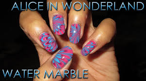 Alice in Wonderland Water Marble | DIY Nail Art Tutorial - YouTube