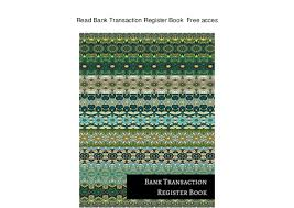 Read Bank Transaction Register Book Free Acces