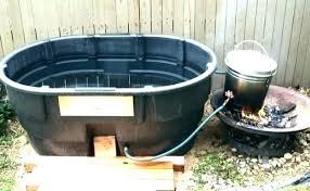 galvanized cattle water trough stock tank bathtub horse use tanks 8 round livestock